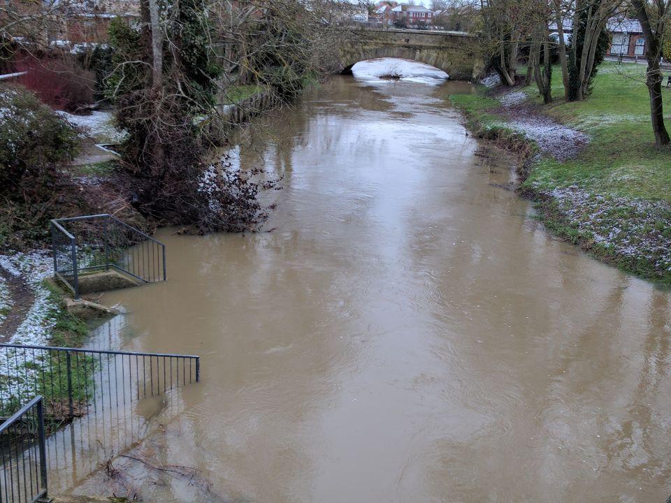 River Eden in flood © Paul Mathews